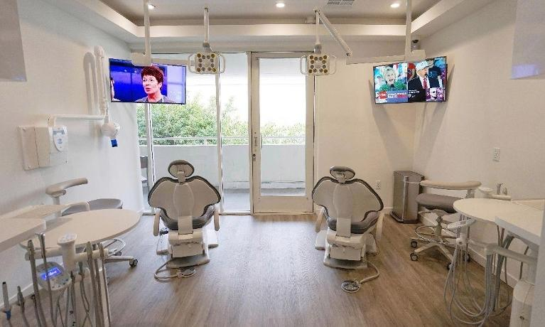 Two dental chairs in dental office | Dentist 90403