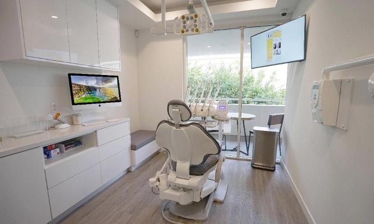 Dental clinic with chair